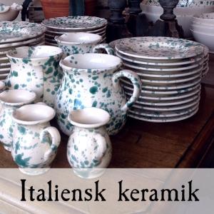 Stänkmålad keramik